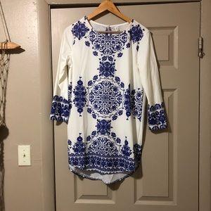 Other - Blue and white mandala mini dress